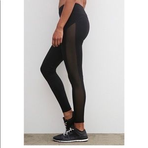 Blk Mesh leggings